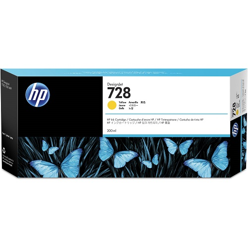 HP F9K15A (728) Yellow Ink Cartridge