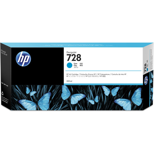 HP F9K17A (728) Cyan Ink Cartridge