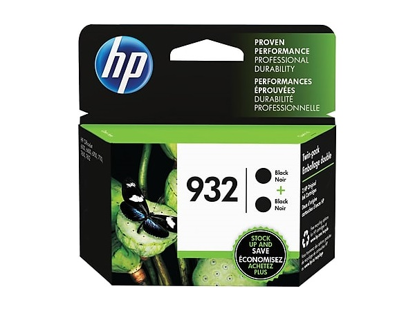 HP L0S27AN (932) Black Ink Cartridge Twin Pack