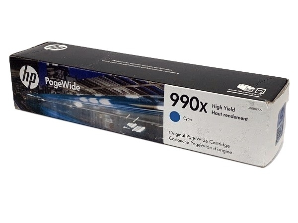 HP M0J89AN PageWide 990X High-Yield Ink Cartridge Cyan