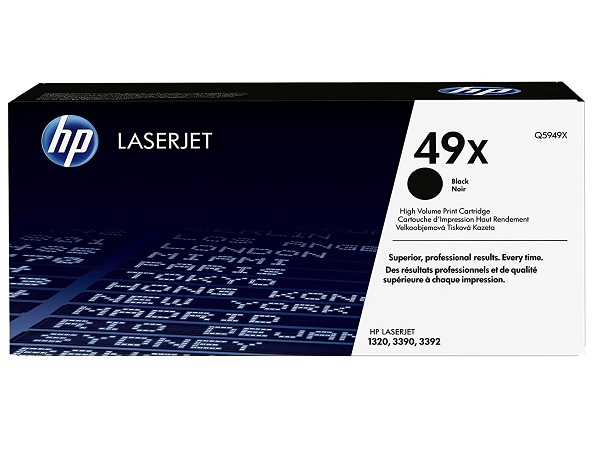 HP Q5949X (49X) Black Toner Cartridge - High Yield