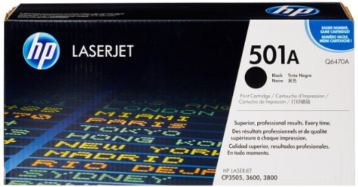 HP Q6470A (501A) Black Toner Cartridge