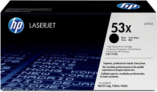 HP Q7553X (53X) Black Toner Cartridge - High Yield