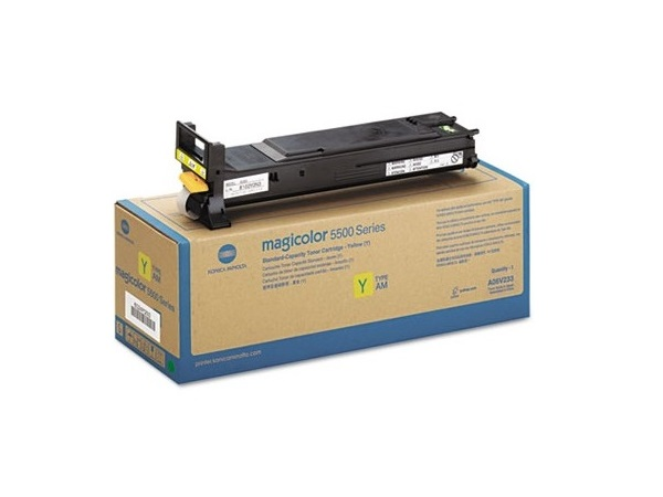 Konica Minolta A06V233 Yellow High Yield Toner Cartridge