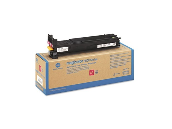 Konica Minolta A06V433 Cyan High Yield Toner Cartridge