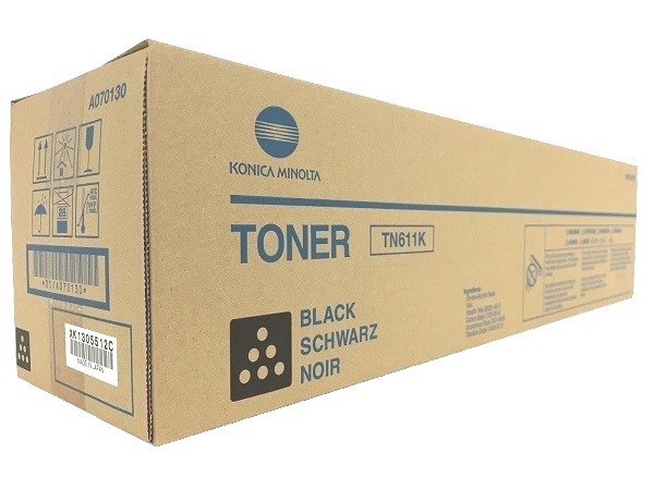 Konica Minolta A070130 (TN611K) Black Toner Cartridge