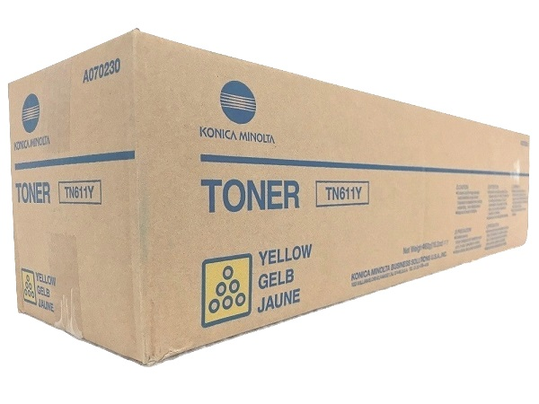 Konica Minolta A070230 (TN611Y) Yellow Toner Cartridge