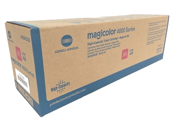 Konica Minolta A0DK332 Magenta Toner Cartridge - High Yield