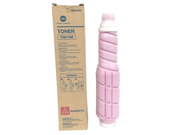 Konica Minolta A0VW334 (TN-614M) Magenta Toner Cartridge