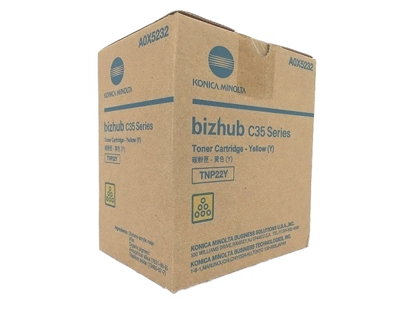 Konica Minolta A0X5232 (TNP22Y) Yellow Toner Cartridge
