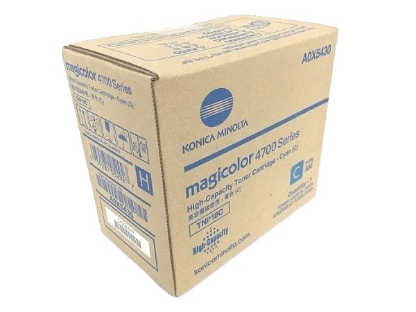 Konica Minolta A0X5430 Cyan Toner Cartridge - High Yield