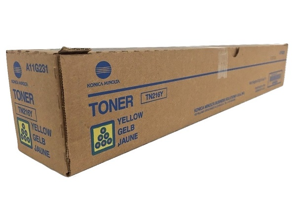 Konica Minolta A11G231 (TN216Y) Yellow Toner Cartridge