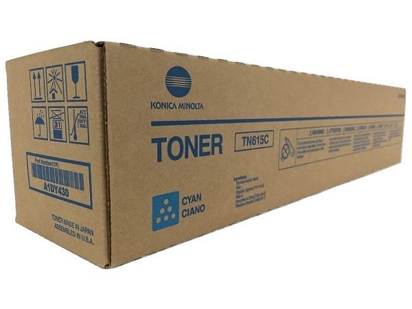 A1DY430 Genuine Konica Minolta Bizhub PRESS C8000 Cyan Toner TN615C