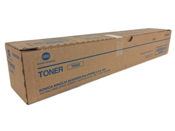 Konica Minolta A33K030 (TN-322) Black Toner Cartridge
