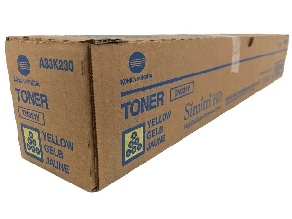 Konica Minolta A33K230 (TN321Y) Yellow Toner Cartridge