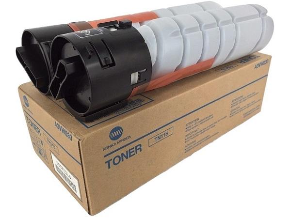 Genuine Konica Minolta A3VW030 Box of 2 Black Toner Cartridge TN118