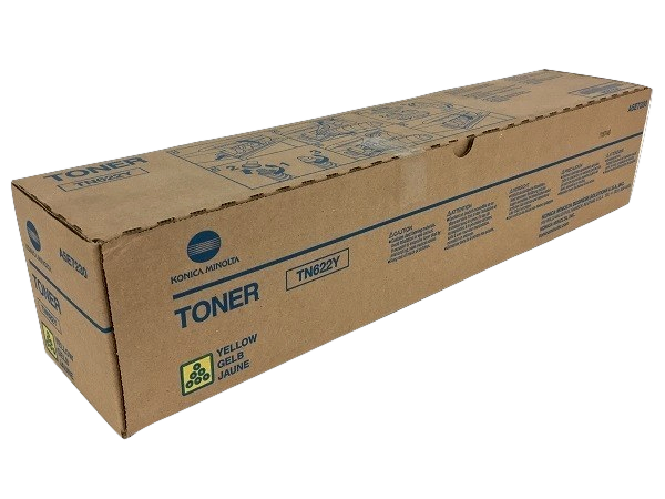 Konica Minolta TN-622Y (A5E7230) Yellow Toner Cartridge