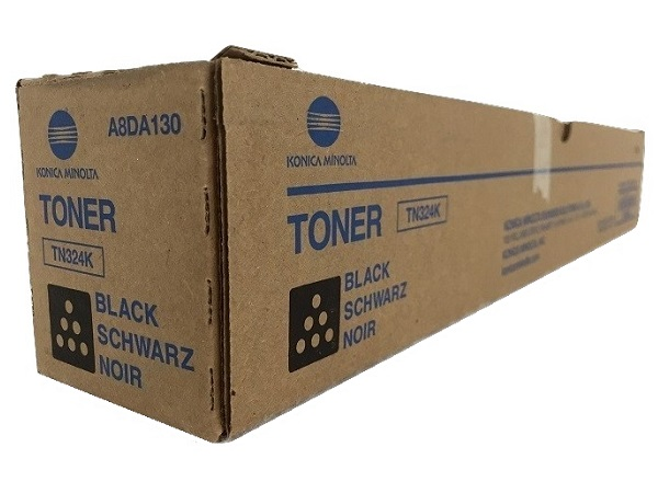 Konica Minolta A8DA130 (TN-324K) Black Toner Cartridge