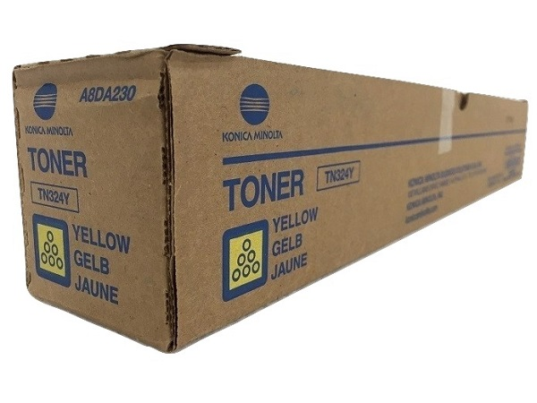 Konica Minolta A8DA230 (TN-324Y) Yellow Toner Cartridge