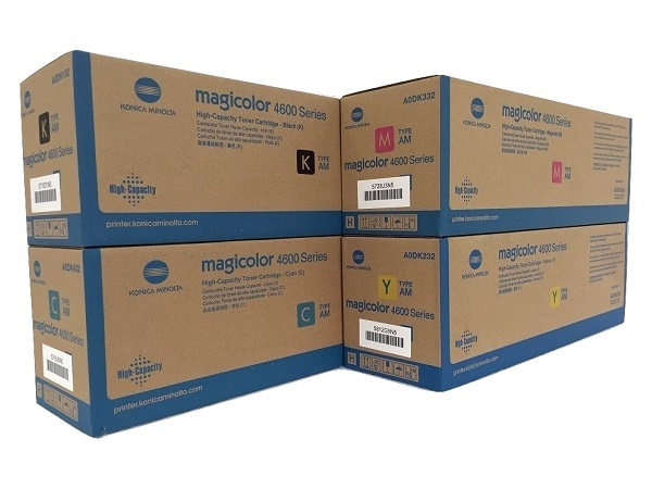 Konica Minolta Magicolor 4600 Series Toner Cartridge Set