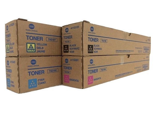 Konica Minolta Bizhub TN216 Complete Toner Cartridge Set