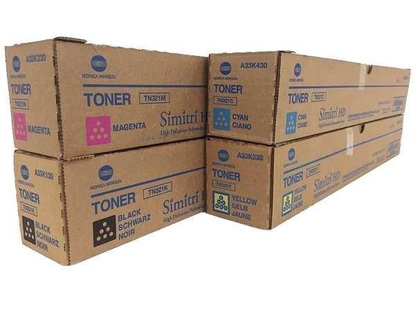 Konica Minolta Bizhub TN321 Complete Toner Cartridge Set
