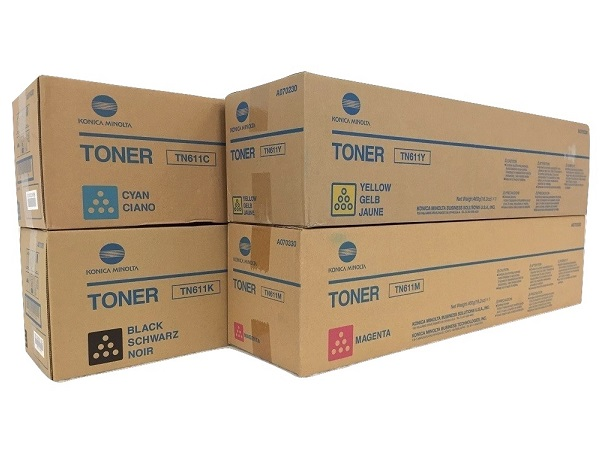 Konica Minolta Bizhub TN611 Complete Toner Cartridge Set
