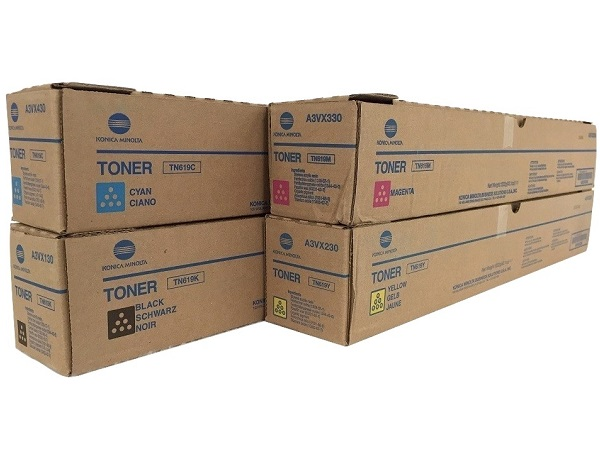 Konica Minolta Bizhub TN619 Complete Toner Cartridge Set