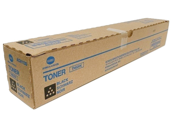 Konica Minolta TN-626K (ACV1130) Black Toner Cartridge