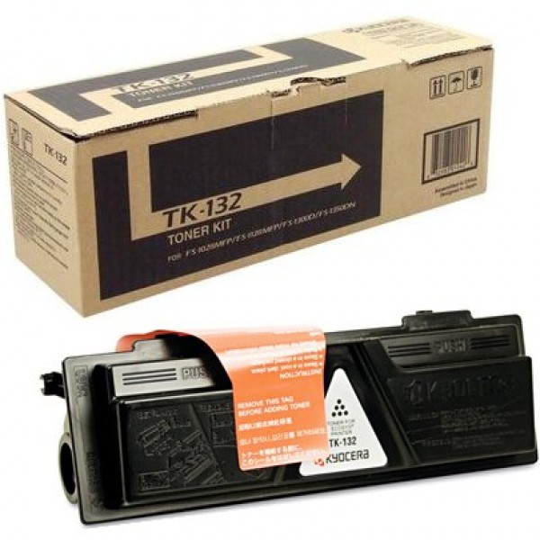 Kyocera TK-132 (TK132) Black Toner Cartridge - High Yield