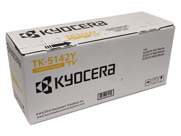Kyocera TK-5142Y (TK5142Y) Yellow Toner Cartridge