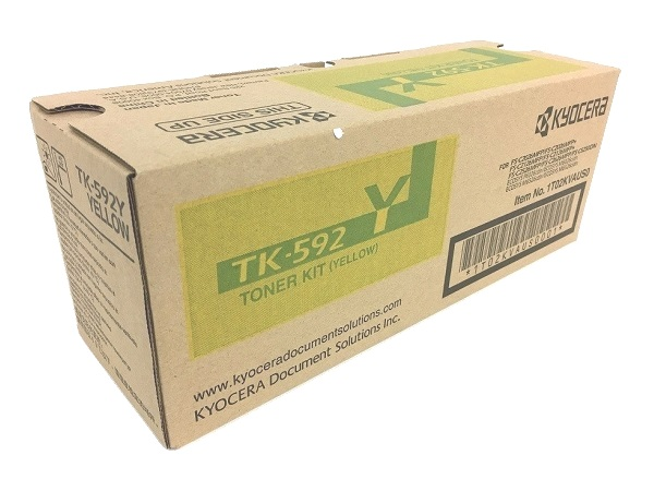 Kyocera TK-592Y (TK592Y) Yellow Toner Cartridge