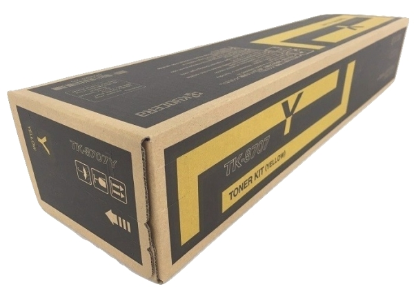 Kyocera TK-8707Y (TK8707Y) Yellow Toner Cartridge