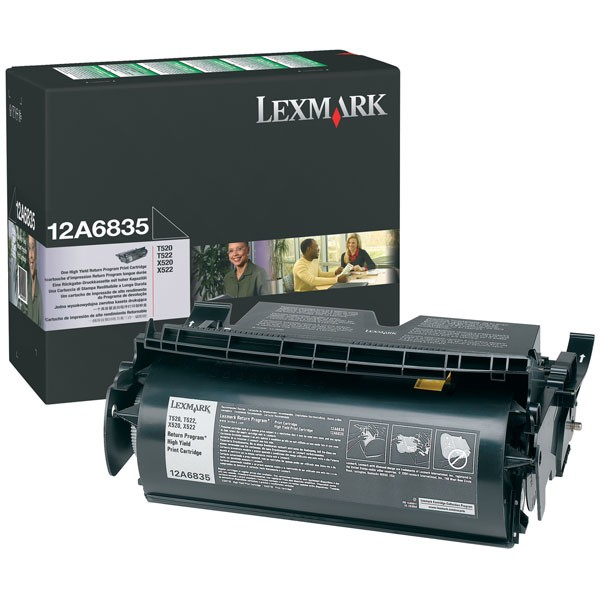 Lexmark 12A6835 Black Toner Cartridge - High Capacity