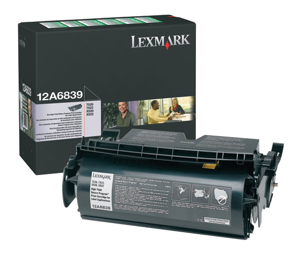 Lexmark 12A6839 Black High Capacity Toner Cartridge