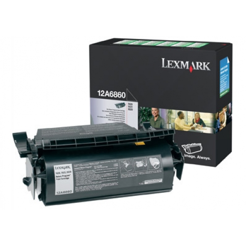 Lexmark 12A6860 Black Toner Cartridge Return Program