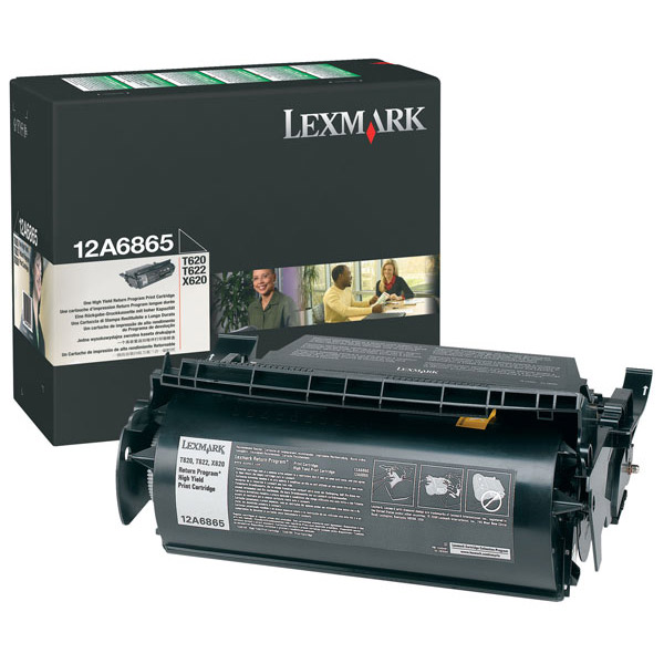 Lexmark 12A6865 (Return Program) Black Toner / Drum Cartridge - High Capacity **Clearannce**