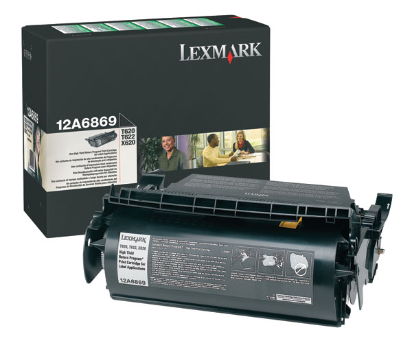 Lexmark 12A6869 Black Toner / Drum Cartridge - High Capacity