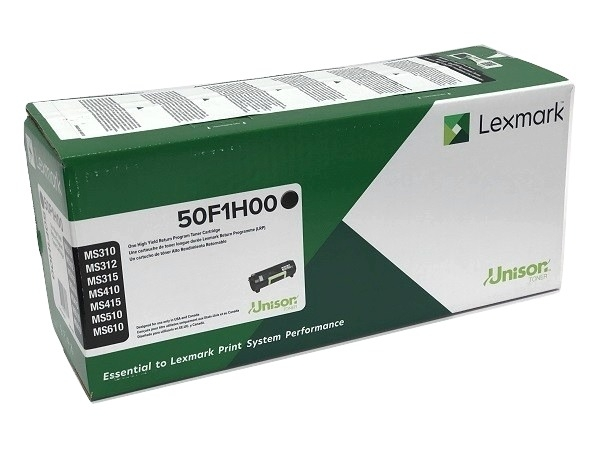 Lexmark 50F1H00 (501H) Black High Yield Toner Cartridge