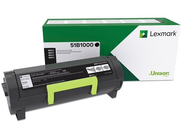 Lexmark 51B1000 Return Program Black Toner Cartridge