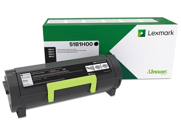 Lexmark 51B1H00 High-Yield Return Program Black Toner Cartridge