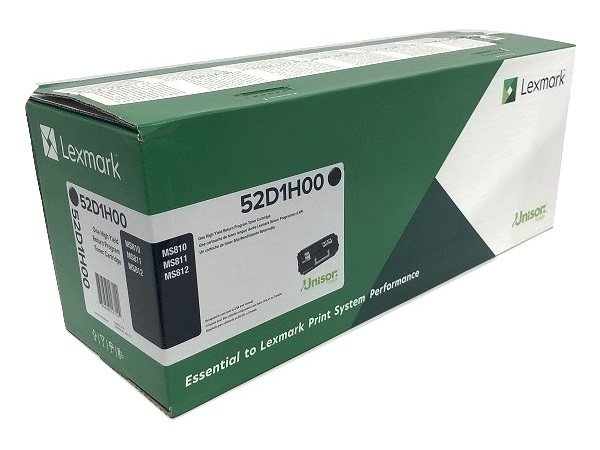 Lexmark 52D1H00 Black High Yield Toner Cartridge