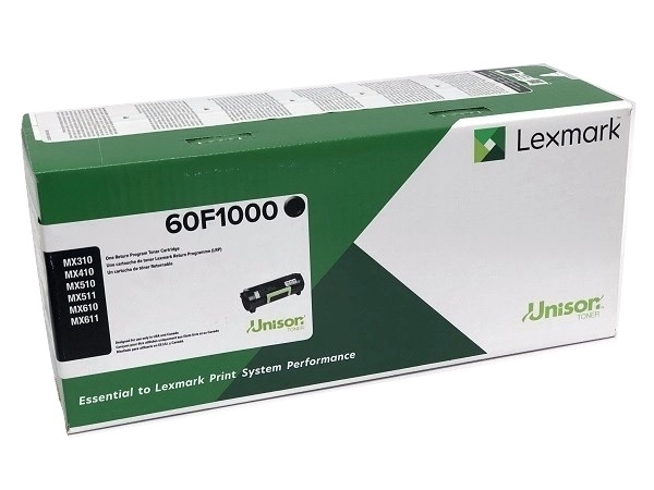 Lexmark 60F1000 Black Toner Cartridge Return Program