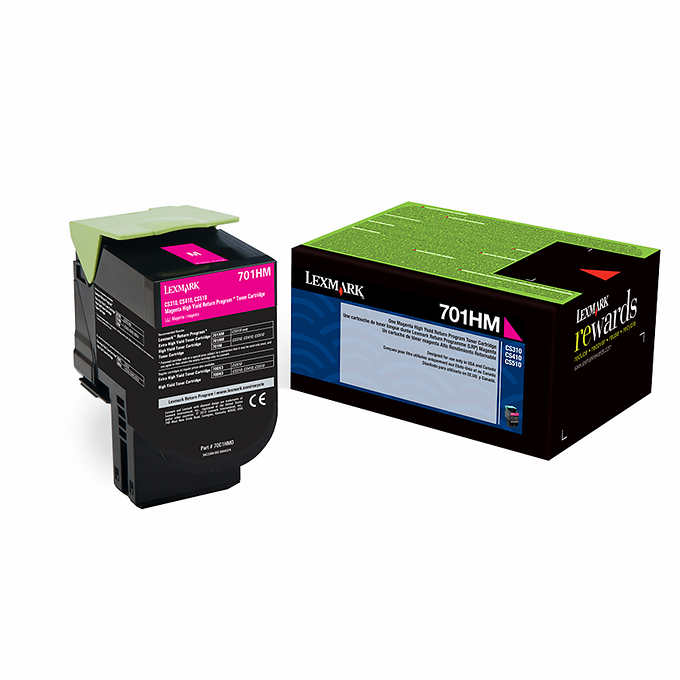 Lexmark 70C1HM0 (701HM) Magenta High Yield Toner Cartridge
