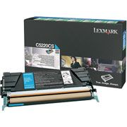 Lexmark C5220CS Cyan Toner Cartridge - Return Program