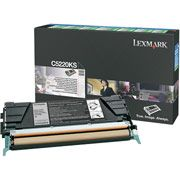 Lexmark C5220KS Black Toner Cartridge - Return Program