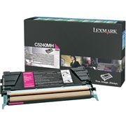 Lexmark C5240MH Magenta Toner Cartridge High Capacity Return Program