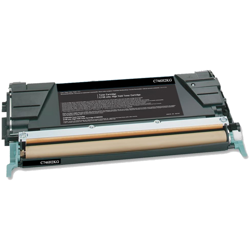 Compatible Lexmark C746H1KG Black Toner Cartridge