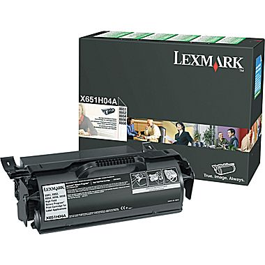 Lexmark X651H04A Return Program High-Yield Black Toner Cartridge For Label Applications