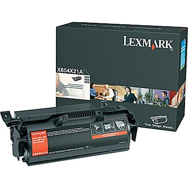 Lexmark X654X21A Extra-High-Yield Return Program Black Toner Cartridge